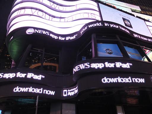 タイムズスクエアの広告