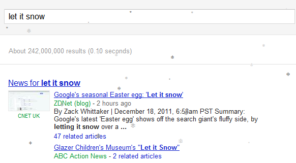 Let it Snow - Google.com Experiment - Google Easter Egg, google chrome, merry christmas google, merry christmas google, google images christmas