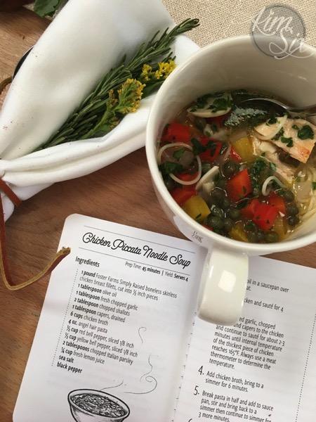 Chicken Picatta Noodle Sopu