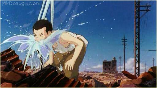 Сэйта, герой Могилы светлячков, пьет воду