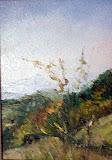 z Boguszowa, olej, płótno, 13x18 cm