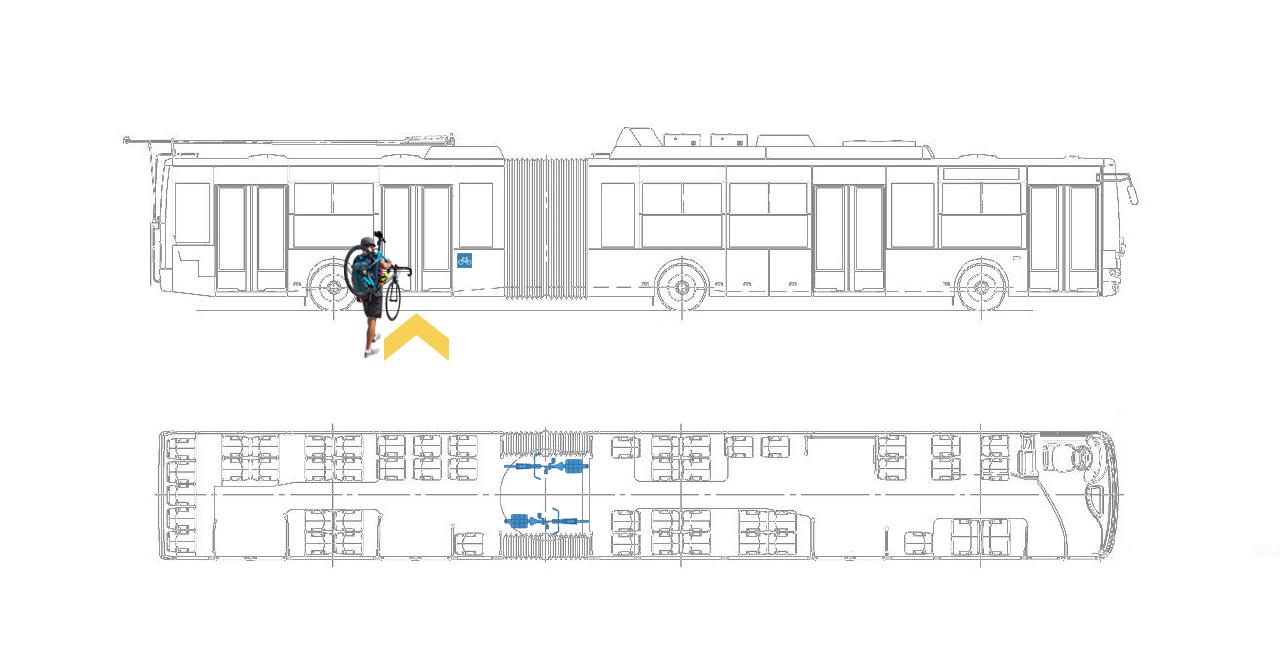 провезення велосипеду в тролейбусі