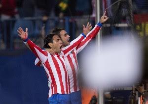 Con 2 Goles de Falcao el Atlético Madrid alcanza al Barcelona en la Liga BBVA