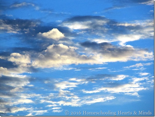 Amazing clouds at Homeschooling Hearts & Minds