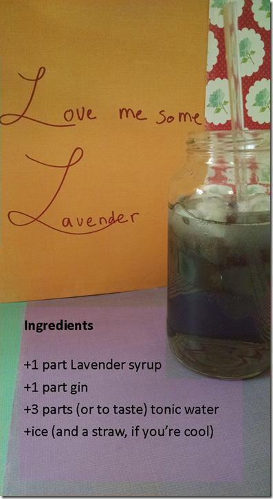lavendar gin and tonic
