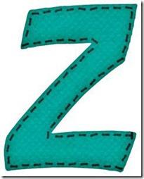 z letras verdes