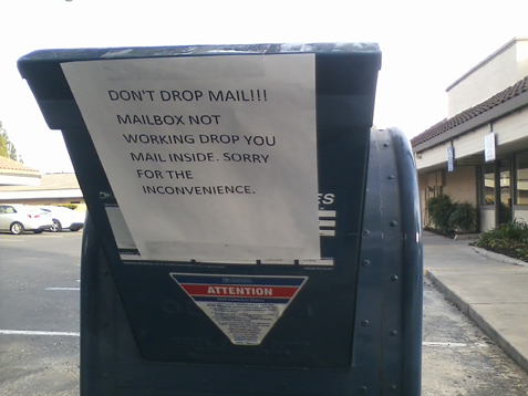Citrus Heights Mailbox...out of order
