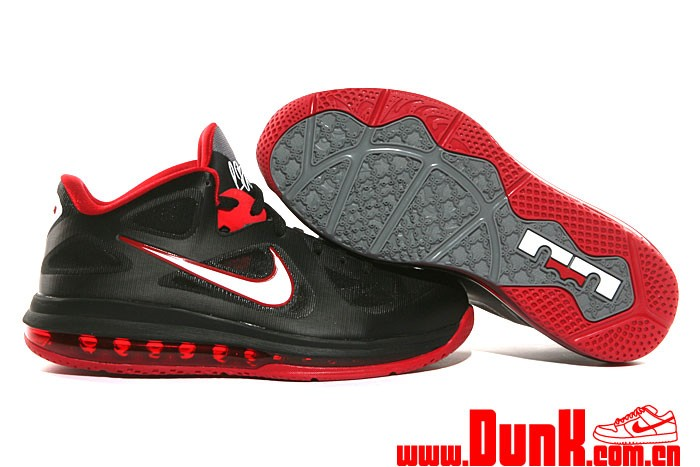 First Look: Nike LeBron 9 Low \u201cBlack / White / Red\u201d | NIKE LEBRON - LeBron James - News | Shoes | Basketball .