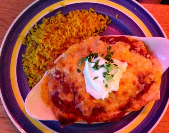 Enchilada with Spicy Chicken