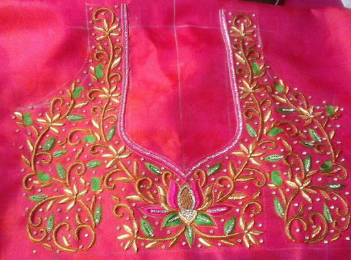 Machine Embroidery Blouse Designs