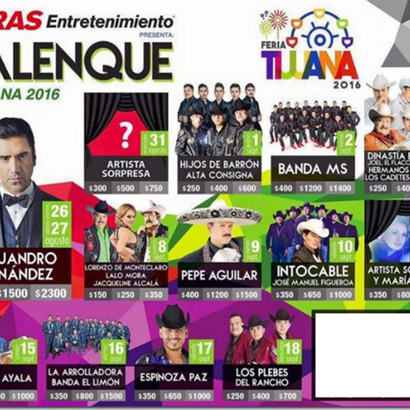Palenque Feria de Tijuana 2016 | Boletos y Conciertos