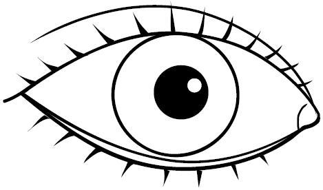 Dibujos para colorear de ojos grandes - Imagui
