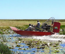 This is a little later at the end of the wet season duing May, but plenty of water for the airboat!