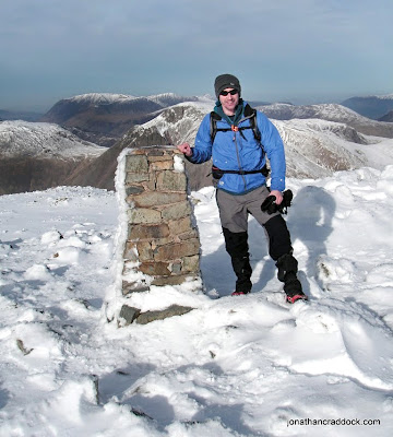 Scafell Pike summit trig point.