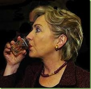 hillary drinking the potion