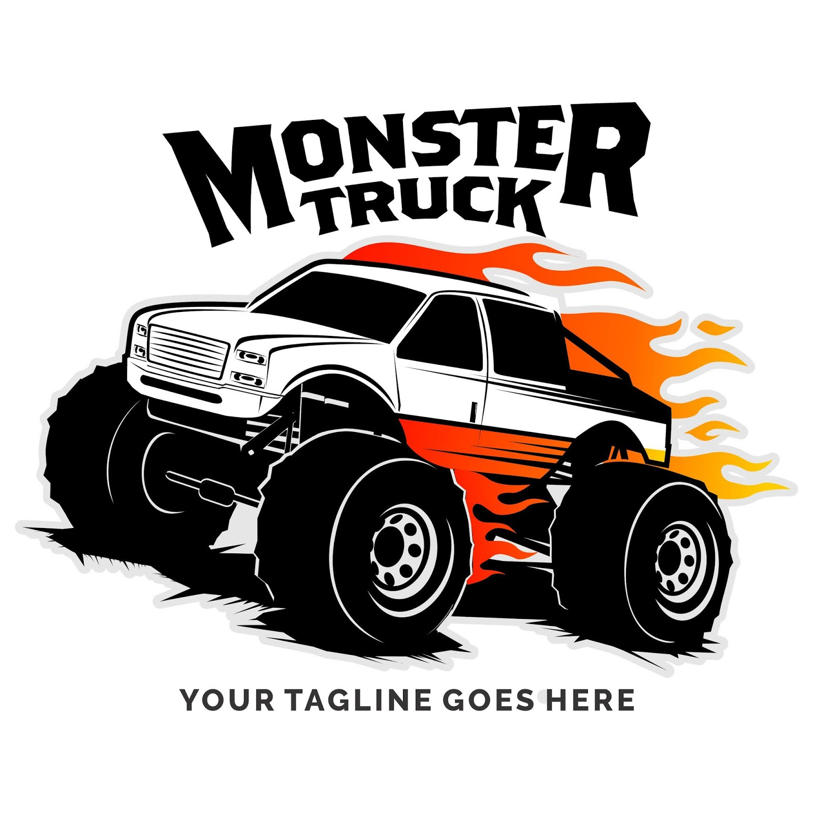 Monster Truck Vector Logo Design Inspiration Free Download Vector CDR, AI, EPS and PNG Formats