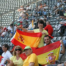 Javier Cienfuegos en los Campeonatos del Mundo de Atletismo