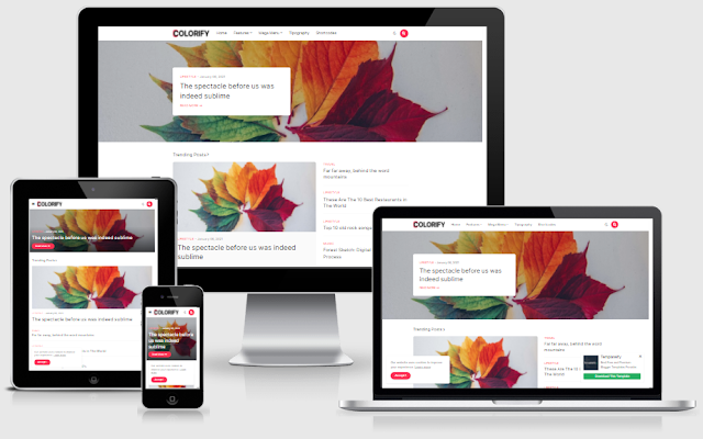 Colorify Premium Blogger Template