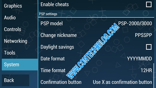 Ppsspp settings