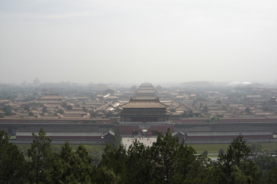 PauTravels looking at the Forbidden City from above
