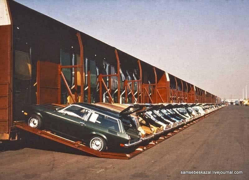 Как в США перевозили автомобили