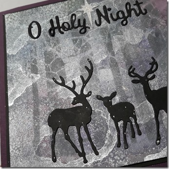 O HOLY NIGHT 1C BG STAMPING GLITTER