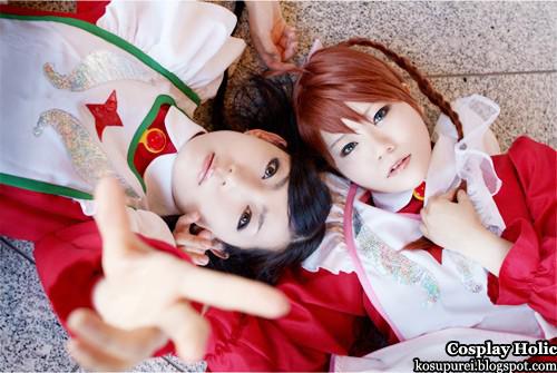 mai otome cosplay - nina wong / wang and yumemiya arika
