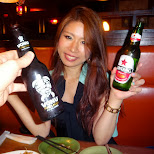 dinner with my friend Saki from the Bonkura BBQ in Shibuya, Tokyo, Japan