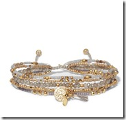 Chan Luu gold tone beaded wrap bracelet