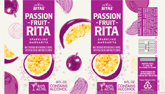 Anheuser-Busch Adding Ritas Sangria Spritz & Passion Fruit Rita Cans