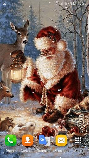 クリスマスアニメーションの壁紙