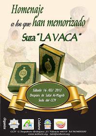 Corán, memorización. Centro Cultural Islámico de Valencia