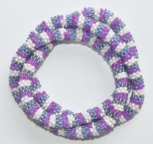 Glass Bead Roll on Bracelets