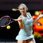 STUTTGART, GERMANY - APRIL 20 : Timea Babos in action at the 2016 Porsche Tennis Grand Prix