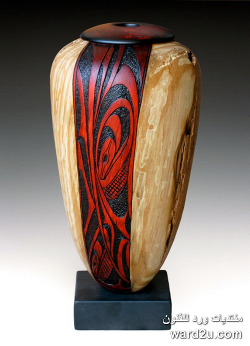 تكوينات عضويه حفر على الخشب ابداع Douglas J Fisher