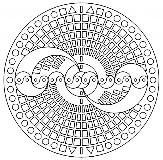 Free Printable Coloring Pages Adults Geometric With Coloring Pages  Geometric