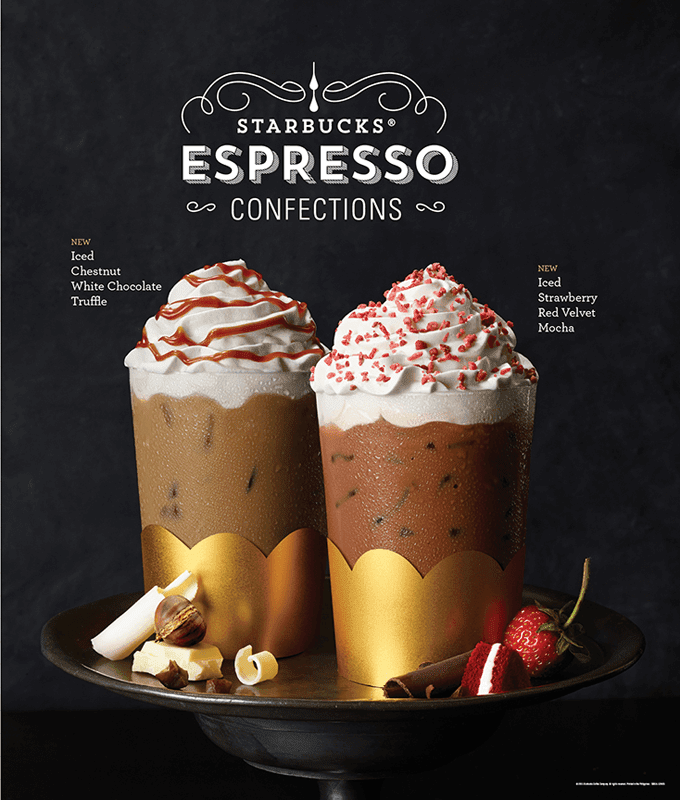 Starbucks Espresso Confections, New Food Items, and Starbucks Card Available Starting January 8