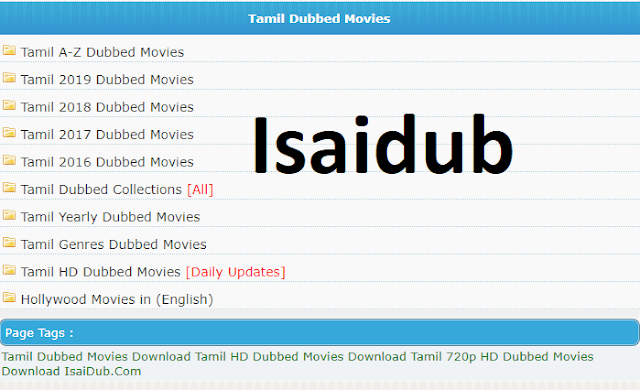 IsaiDub Movies 2021: Download Tamil Movies From IsaiDub.