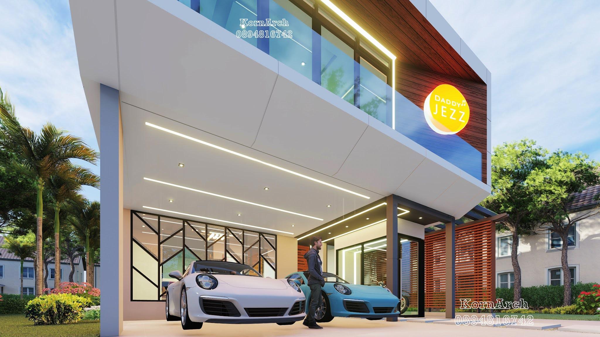 รับออกแบบต่อเติมHomeOffice2ชั้น เจ้าของอาคาร  STUDIO Daddy Jezz  สถานที่ก่อสร้าง  จ.นครราชสีมา