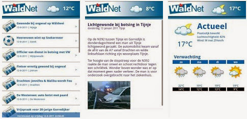 Waldnet App voor Android, iPhone en iPad