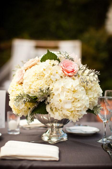 Bouquet Bridal White Hydrangea Wedding Flower Ideas