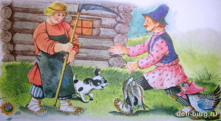 читать сказку петушок и бобовое зернышко