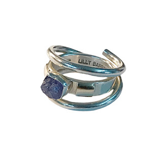 Lilly Barrack 14K Gold, Sterling Silver & Amethyst Ring