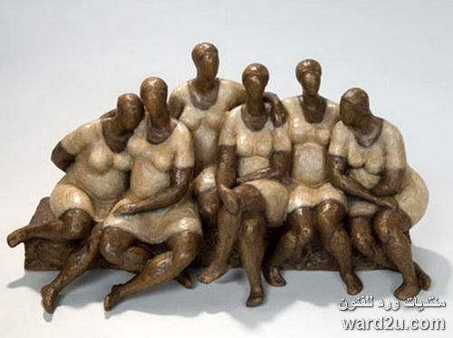 بدينات افريقيا فى منحوتات الفنان Nnamdi Okonkwo
