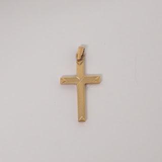 14K Gold Cross Pendant #2