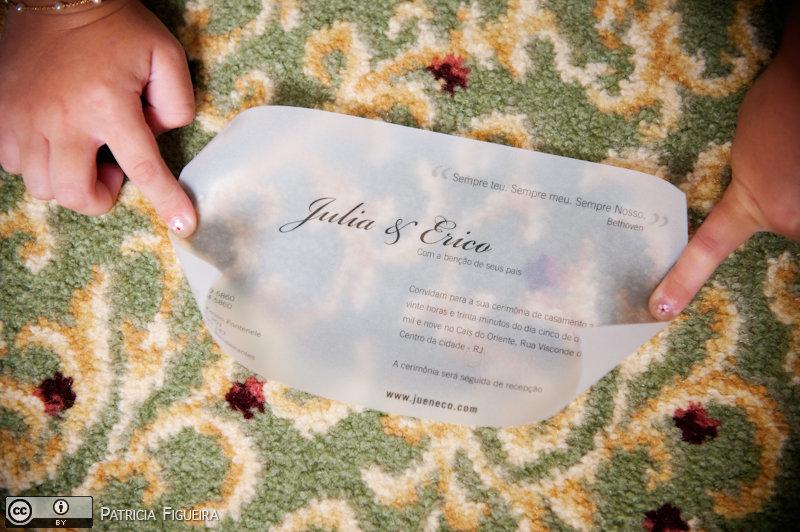 Foto de casamento 0014 de Julia e Erico. Marcações: 05/12/2009, Casamento Julia e Erico, Convite, Convite de Casamento, Gizela Studio 311, Rio de Janeiro.