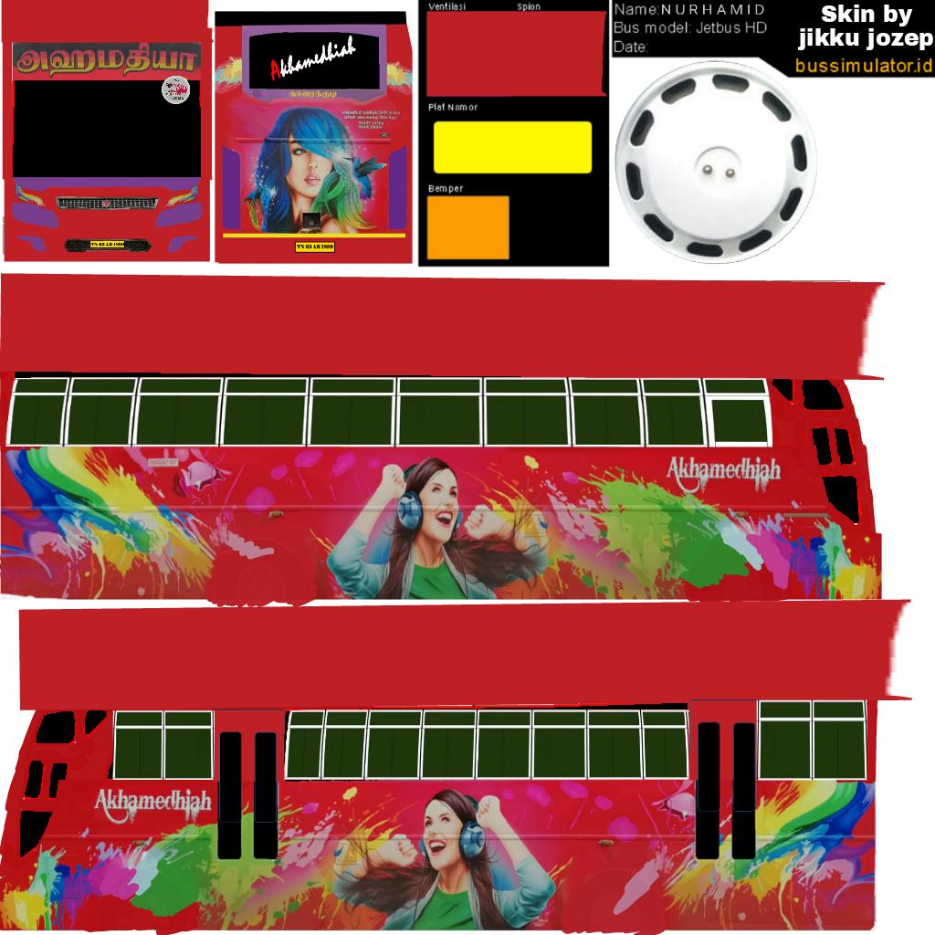 Bussid kerala: Akhamediah tamilnadu bus livery