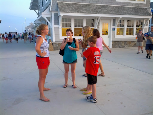 Megan got to share Christ with this family after one of the messages.