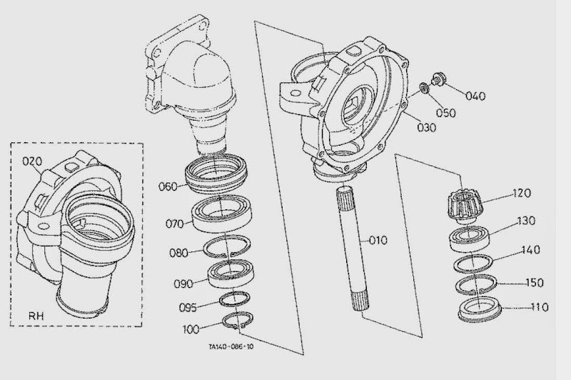 kubota parts diagrams drive shaft  kubota  tractor engine