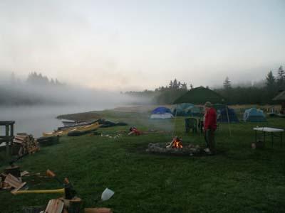 Dawn was foggy